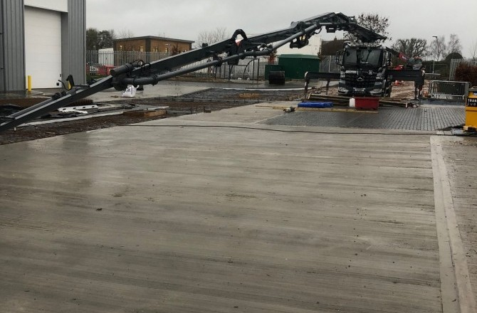 Nationwide Concrete Pumping are on site!