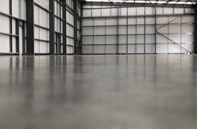 Steel Reinforced Industrial Concrete Floors for a New Client