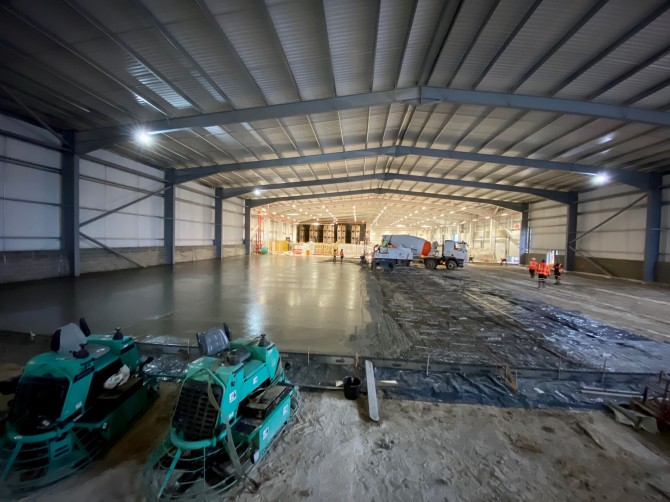 Two Large Industrial Concrete Floors