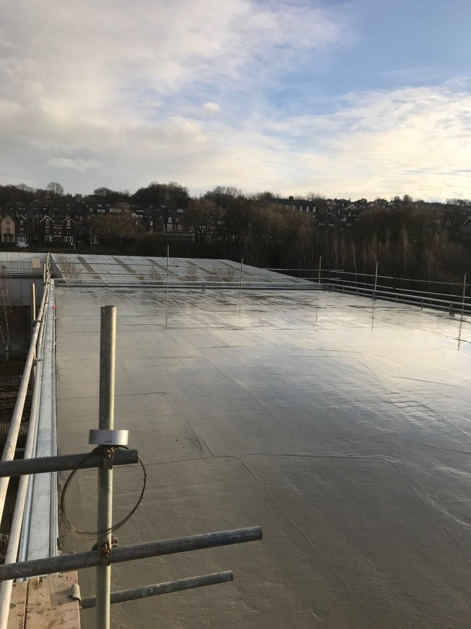 Installation of concrete floors to all levels of a new office block