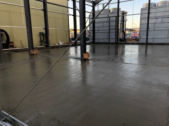 Plant Room - Concrete Floor Installation